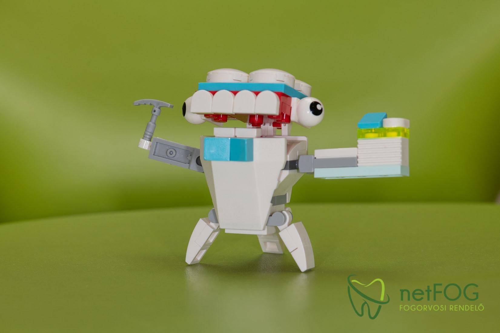 Lego fognyűvő manó játék gyermekfogászatunkon